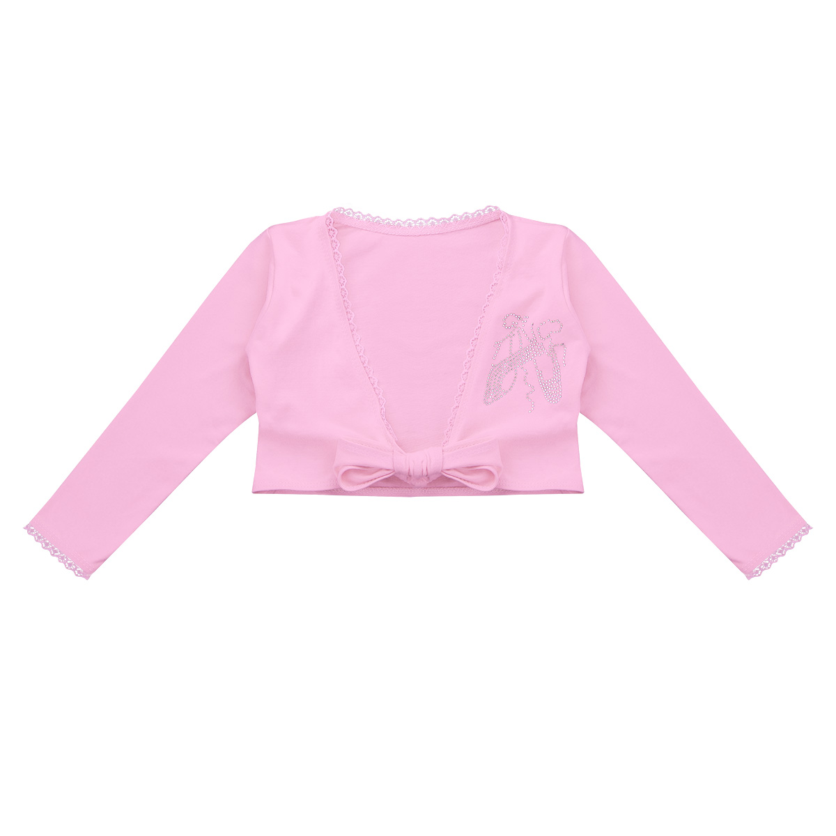 49467d541 Girls Outfit Clothing Classic Long Sleeve Front Knot Cotton Wrap Top Ballet  Dance Cardigan Tutu Outerwear Tops for Children-in Jackets & Coats from  Mother ...