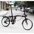 3 bicicleta plegable de acero cromado 16