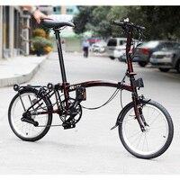 3SIXTY Chrome Steel Folding Bike 16 349 Urban Commuter Bicycle with Caliper Brake Rear Rack Inner 3 Speed Foldable Bikes