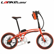 LANKELEISI QF600 20Inch Ebike Battery 48V 240W Motor Lithium Electric e Bike 7 Speed High-Carbon Steel Folding Electric Bicycle