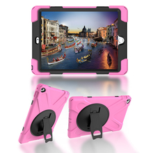Durable Shockproof Silicone Case with Kickstand for Apple iPad Air 2 iPad 6