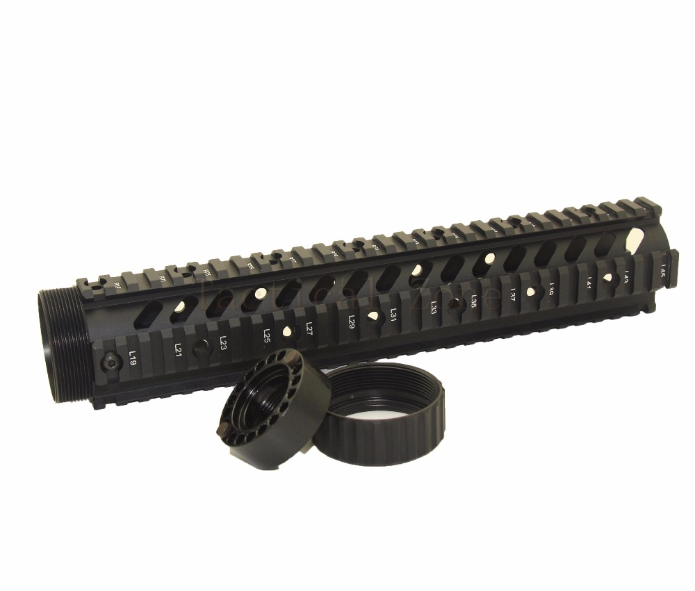 Tactical Hunting Airsoft Accessories 12 Inch AR 15 M4 M16 Handguard Scope Mount Float Quad Picatinny