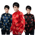 Size M-XXL Chinese Traditional Mandarin Collar Men Wedding Party Prom Single Breasted Suit Jackets Chaquetas Hombre De Vestir