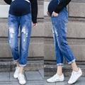 Pregnant Women Scratch Hole Jeans Maternity Scratch Hole Denim Maternity Pants Clothes Pregnant Women Pregnancy Trousers YL502