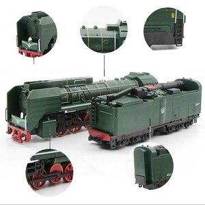 Image 3 - Locomotive Diesel, jouet en alliage de taille unique, voitures, son, léger, jouet pour enfants