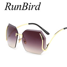 Fashion Lady Rimless Sunglasses Women Hot New Italy Brand Designer Mirror Sun Glasses Female Vintage Metal Frame Shades 377R