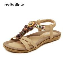 2019 Summer Women Sandals Comfort Summer Bohemia Flat Women Sandals Ladies Flip Flops Vintage Shoes Beach Sandalias Mujer 35-42 стоимость