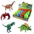 Envío Gratis 4 unids/lote Deformación Dinosaurio T-REX Dinosaurio Jurásico Huevos De Plástico Novedad Educativa Regalo Juguetes para Niños