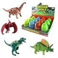 O Envio gratuito de 4 pçs/lote Deformação Dinossauro Jurassic Ovos De Plástico Novidade T-REX Dinossauro Brinquedos Educativos Presente para As Crianças