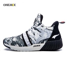 ONEMIX 2017 New Men's Running Breathable Sport Sneakers Athletic Shoes Increasing barefoot hyperline high top pure famale Shoes