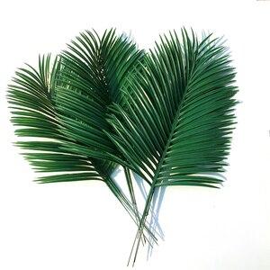 Artificial palm leaves 10pcs Green plants Decorative / artificial flowers for decoration / wedding decoration / 54cm long