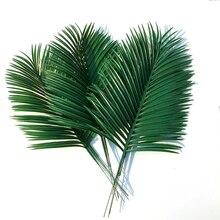 Artificial palm leaves 10pcs Green plants Decorative / artificial flowers for decoration wedding 54cm long
