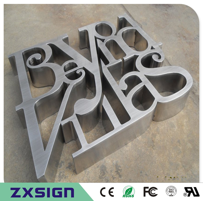 Factory Outlet Outdoor Fine Workmanship Signed Stainless Steel Words, Metal Characters For Feather Wall, Company Logo Signages