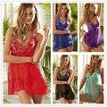 Europa y el comercio exterior de Estados Unidos las mujeres de talla grande ropa interior exótica sexy pijamas de seda del brote condole la correa del camisón tentación