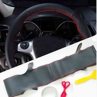 Car steering wheel leather cases Car accessories For Ford Kuga Escape 2014 2013 2GEN