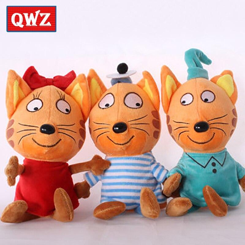 QWZ20cm 3pcs / set Русский мультфильм Три - Мягкие и плюшевые игрушки