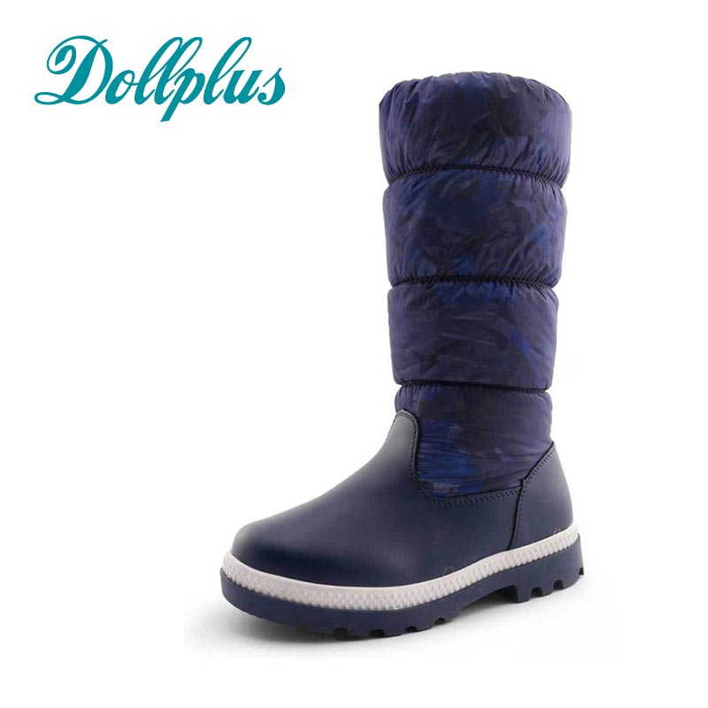 2017 New Fashion  Winter Kids Warm Snow Boots Children Warm Girls Boot Waterproof Non-Slip Outdoor Botas Eur Size 32#-37 2016 new winter kids snow boots children warm thick waterproof martin boots girls boys fashion soft buckle shoes baby snow boots