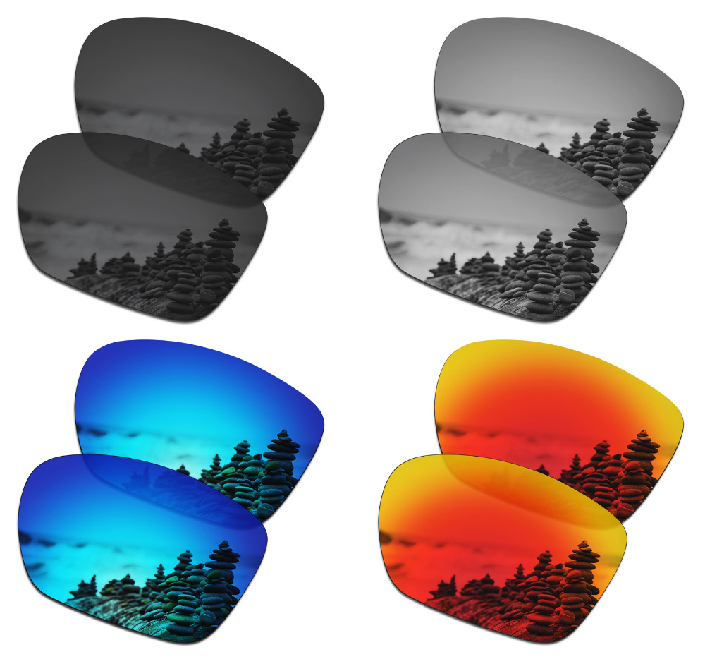 SmartVLT 4 Pairs Polarized Sunglasses Replacement Lenses For Oakley Twoface XL - 4 Colors