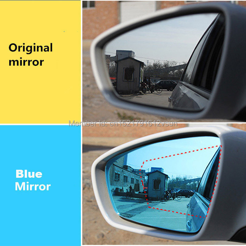 smRKE 2Pcs For Peugeot 307 Rearview Mirror Blue Glasses Wide Angle Led Turn Signals light Power Heating in Mirror Covers from Automobiles Motorcycles