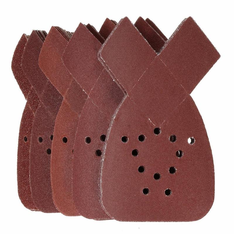 Mayitr 50 pz 40/80/120/180/240 Grit Mouse Levigatura Fogli di Carta Platorello per abrasiva Carta Abrasiva