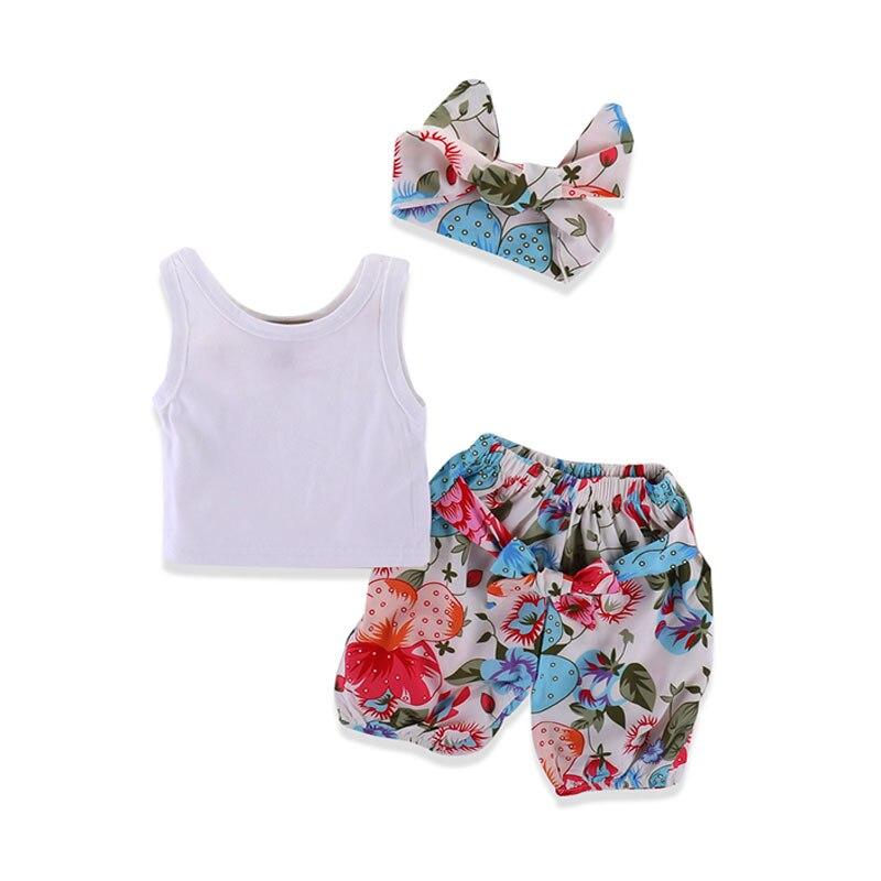 3Pcs Pure Cotton Lovely Baby Girl Bodysuits for Girls Summer Clothes Set Body Newborns Headband Clothing for Girl Children bebe