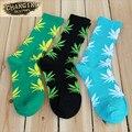 1 par de bordo meias moda erva folha meias meias meias de skate Hiphop mulheres homens Unisex