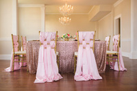 8FT Banquet Pink Gold Sequin Table Cloth Large 90x156inch Sequin Tablecloths For Weddings Sequin Table Linens