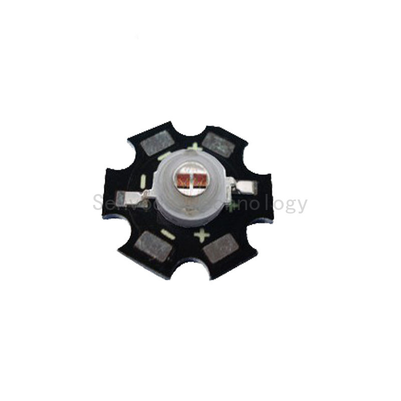 100X plant grow 660nm led emitter double chip 5W high power led light beads with aluminium PCB free shipping