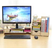 Folder sorting shelf computer monitor screen raised shelf base