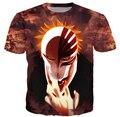 Mujeres / hombres camisetas BLEACH japón ANIME 3D camiseta O cuello de la camiseta Tops Tees camisa