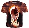 Mulheres / homens camisas BLEACH japão ANIME 3D tshirt O pescoço t-shirt cobre T Shirt