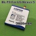 3800 mah batería bl-t9 para lg google nexus 5 e980 nexus g d820 d821 nexus5 megalodon d8 para lg nexus 5 batería