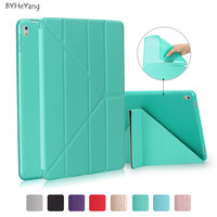 BYHeYang Case For New IPad Pro 10 5 2017 PU Smart Cover Case Magnet Wake Up