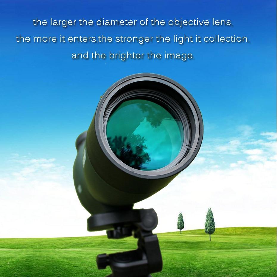 Svbony SV28 50/60/70mm longue-vue Zoom télescope étanche montre à oiseaux chasse monoculaire et universel adaptateur de téléphone optique pour la chasse, le tir, le tir à l'arc, l'observation des oiseaux - 5
