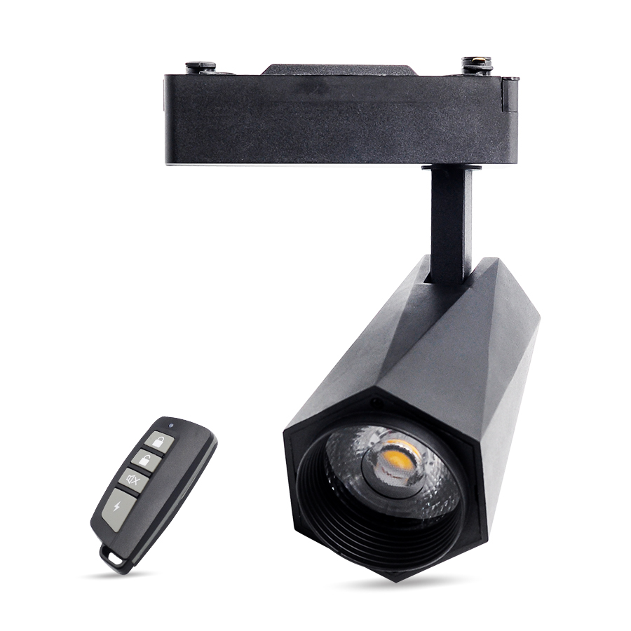 85-265V led remote control track spotlight 24W dimming ceiling lamp guide lamp clothing store cob track light small spotlight85-265V led remote control track spotlight 24W dimming ceiling lamp guide lamp clothing store cob track light small spotlight