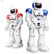 Робот зарядка через usb Танцы жесты Фигурка Игрушка Робот Контроль Радиоуправляемый игрушечный робот для мальчиков Детский подарок на день рождения