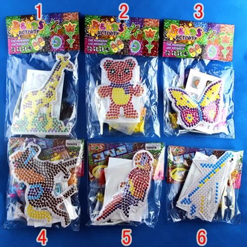 4setslot styles kids setfor 5mm perler beads hama beads fused beads patterns clear transparent peg board - Peg Boards
