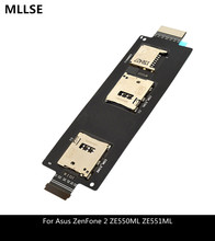 Repair Parts For ASUS ZenFone 2 5 5 Inch ZE551ML ZE550ML SIM Card Reader Holder Connector Slot Flex Cable cheap MLLSE For ASUS ZenFone 2 ZE551ML ZE550ML