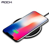 For IPhone Samsung Wireless Charger ROCK10W Desktop Smart Phone Qi Wireless Charger For IPhone X Galaxy