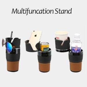 Image 4 - אוניברסלי תכליתי רכב כוס מחזיק Rotatable Convient עיצוב נייד טלפון לשתות משקפי שמש מחזיק משקה מחזיק אבזרים