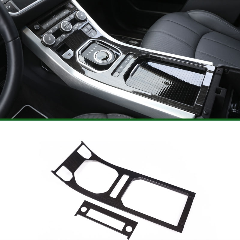 Newest For Land Rover Range Rover Evoque ABS Center Console Gear Panel Chrome Decorative Cover Trim Car-Styling 2012-2017 newest for land rover discovery 4 lr4 accessories abs dark wood grain center console ac vent cover trim stickers for lhd