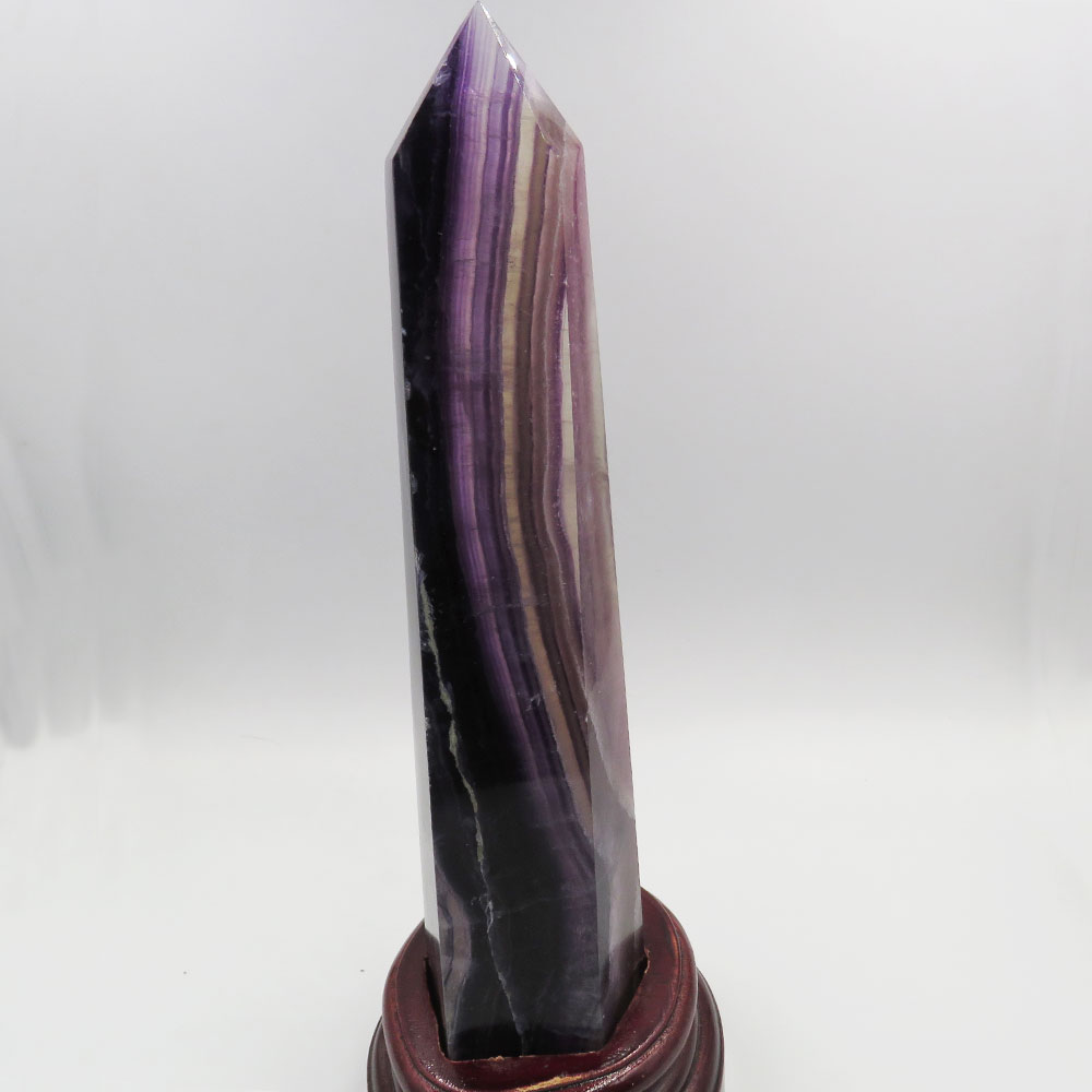 1.08kg New RARE 100% Natural Long Purple Fluorite Crystal Single Terminated Polished Point Wand Reiki Healing Fengshui Stone1.08kg New RARE 100% Natural Long Purple Fluorite Crystal Single Terminated Polished Point Wand Reiki Healing Fengshui Stone