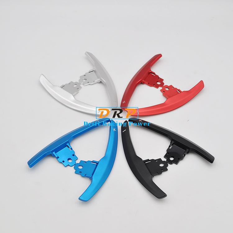 цена на Hot!Best Quality Aluminum 2 pcs Car Steering Wheel Shift Paddle Shifters Extension for B*W M2 M3 M4 M5 M6 X5M X6M F80 F82