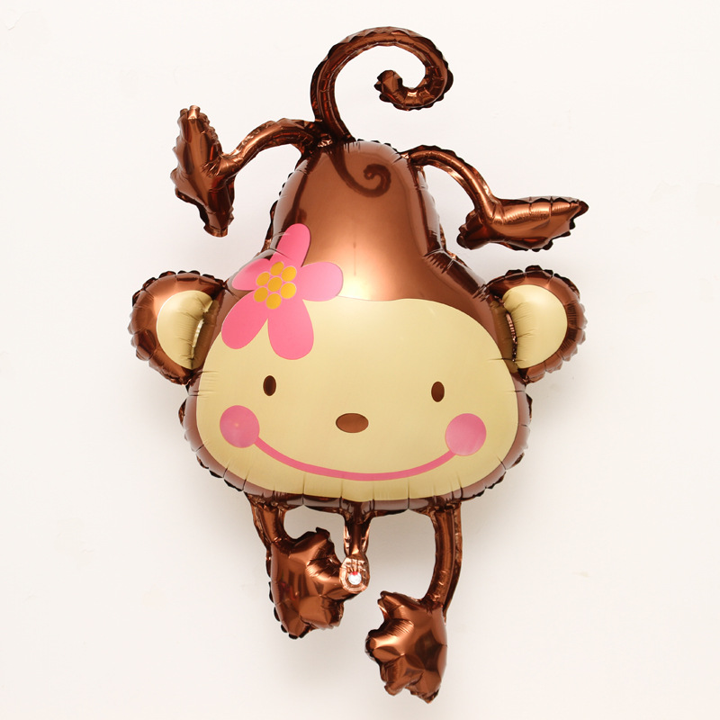 Festive & Party Supplies Just 10pcs/lot 108*85cm Large Cartoon Monkey Foil Balloon Air Ballons Birthday Party Decorations Kidss Toy Baloes Free Shipping Products Are Sold Without Limitations Event & Party
