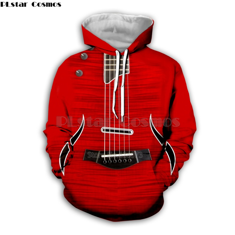 Guitar Art Musical Instrument 3D Print Long Sleeve Fashion Hoodie Hip Hop Tee Style Hooded Streetwear Casual Zipper Tops Style3