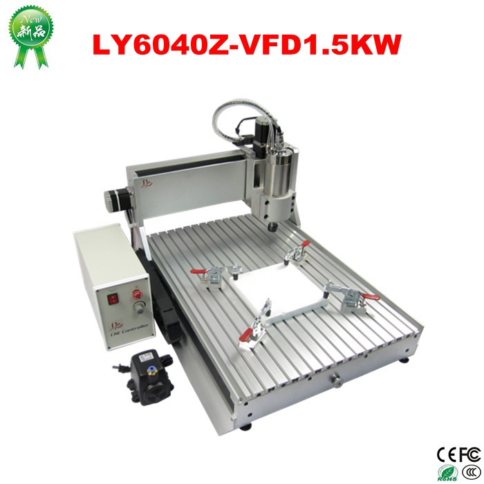 China wholesale mini 3 axis CNC 6040 router machine for aluminium with 1.5KW spindle (6)