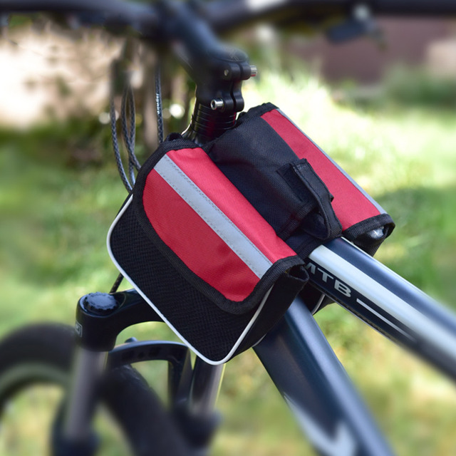 Sports Bicycle Cycling Pouch Frame Pannier Front Tube Cellphone Double Bag Bicycle Bag