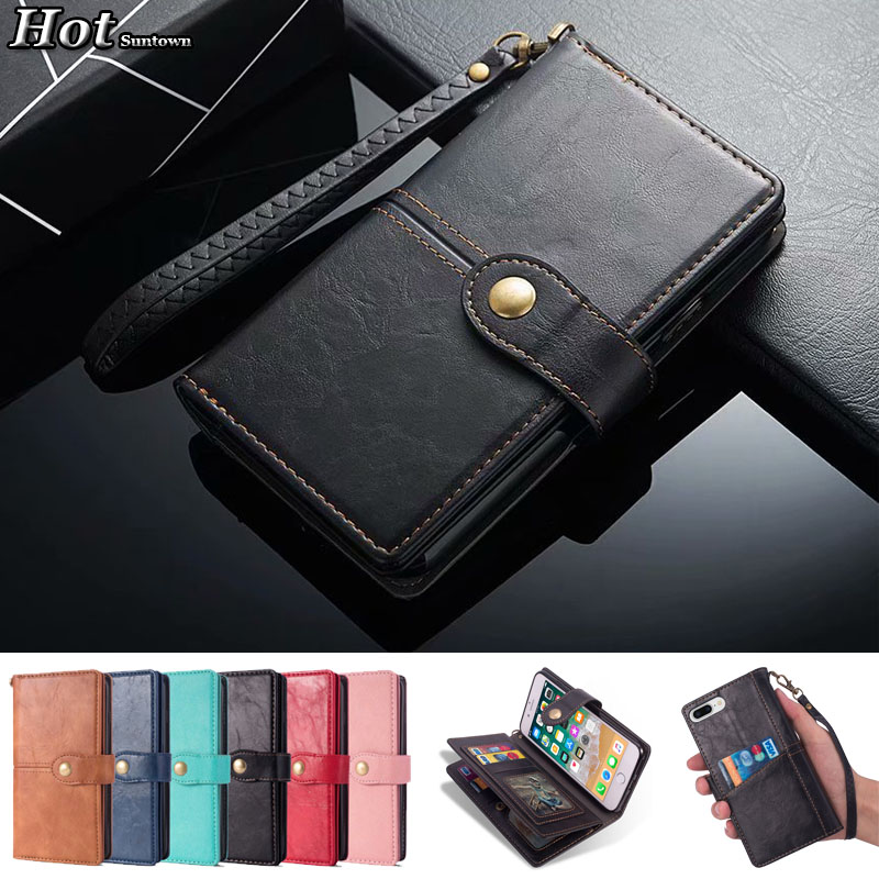 For Telefoon Hoesjes iphone 7 Case Luxury 9 Card Holder Phone Cover Coque iphone 7 Case Leather Vintage Flip Wallet Cover 7 Case