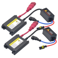 2pcs 12V AC 55W Hid Xenon Ballast Digital Slim Ballast Block Ignition Electronic Ballast For HID