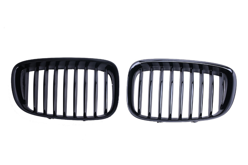 Gloss Black Front Kidney Grille Grills For BMW X3 E83 2003 2004 2005 2006 C/5 2016 new a pair front grilles left and right double line grille gloss black front grills for bmw 3 series e46 2002 2004 4 door